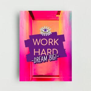 Dream Big Non Framed Poster
