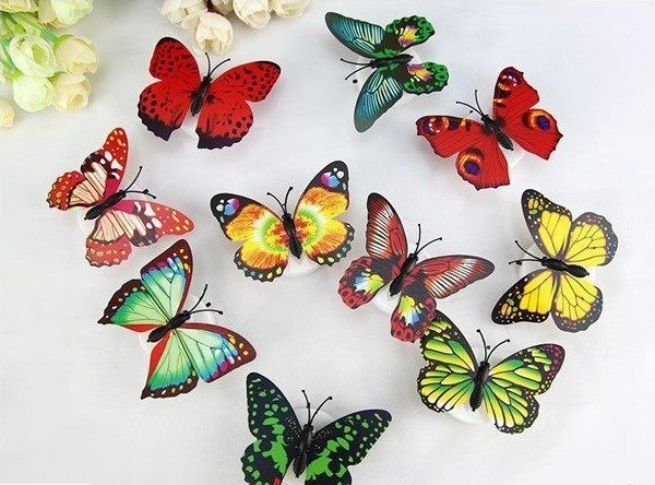 LED Color Changing Beautiful Butterfly (Set Of 10)