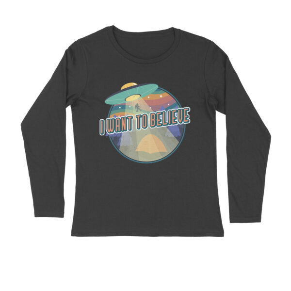 I Want To Believe Black Long Sleeve T-Shirt