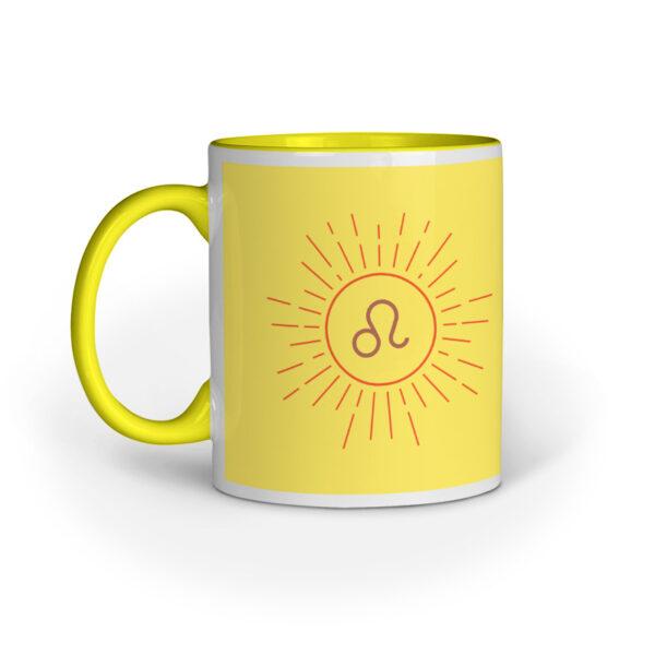 Leo Yellow Inner Colored Ceramic Mug