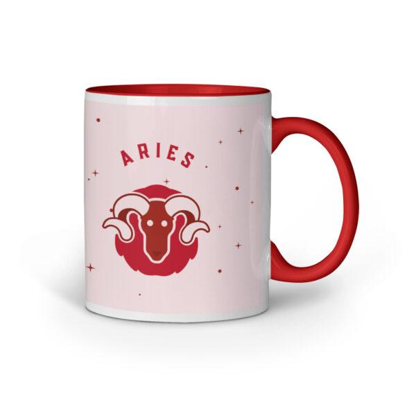 Aries Red Inner Colored Ceramic Mug