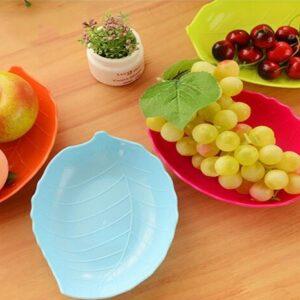 Pack Of 6 Leaf Shaped Snacks Plate (Random)