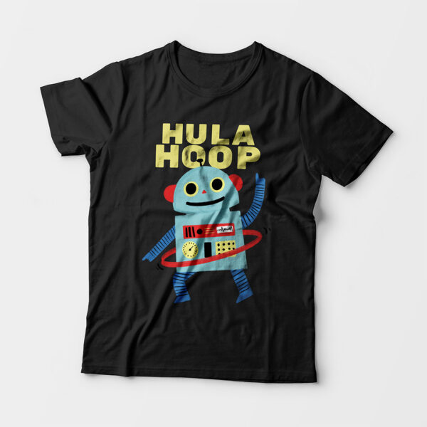 Hula Hoop Kid's Unisex Black Round Neck T-Shirt