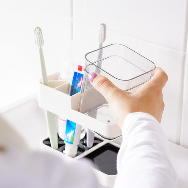 Toothbrush Toothpaste Cup Holder Stand