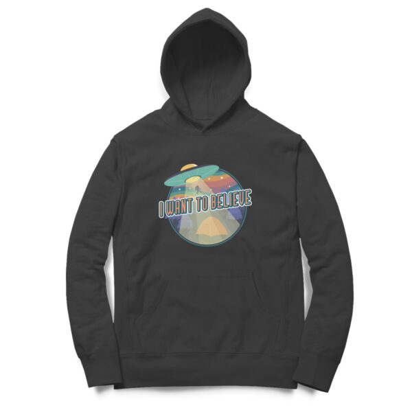 I Want To Believe Black Hoodie