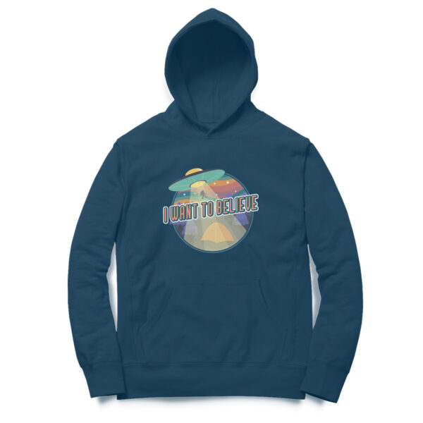 I Want To Believe Navy Blue Hoodie