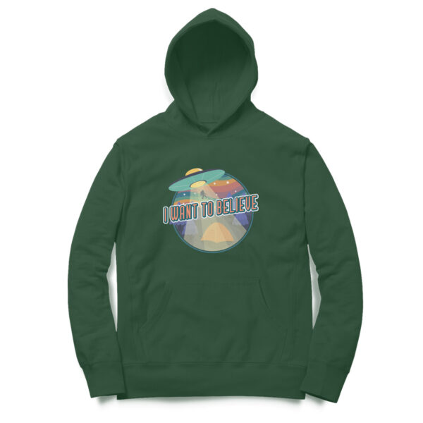 I Want To Believe Olive Green Hoodie