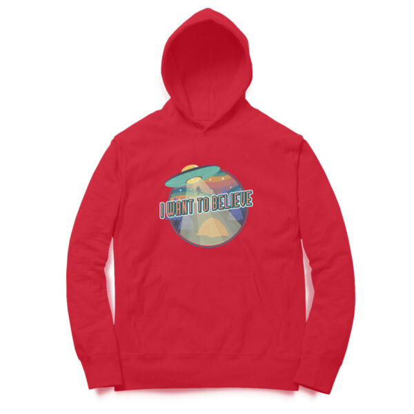 I Want To Believe Red Hoodie