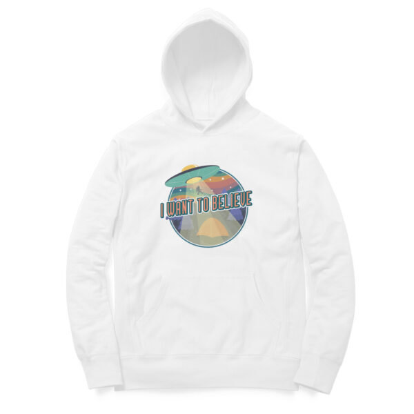 I Want To Believe White Hoodie