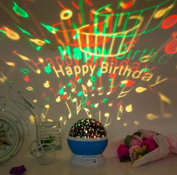 Happy Birthday Star Master Dream Rotating Projection Lamp