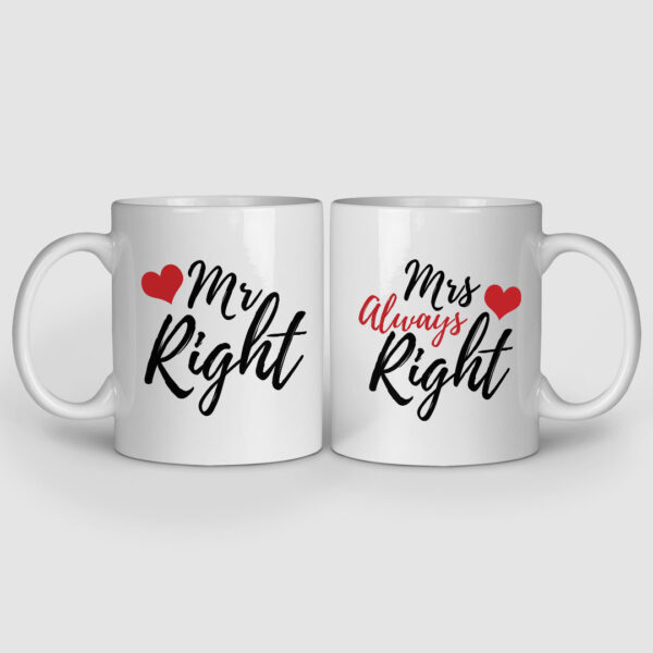 Mr. And Mrs. Right Couple Mugs