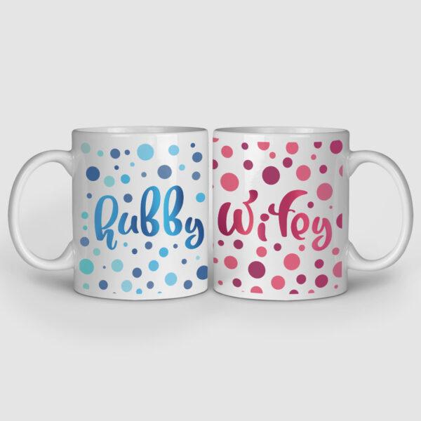 Hubby And Wifey Couple Mugs