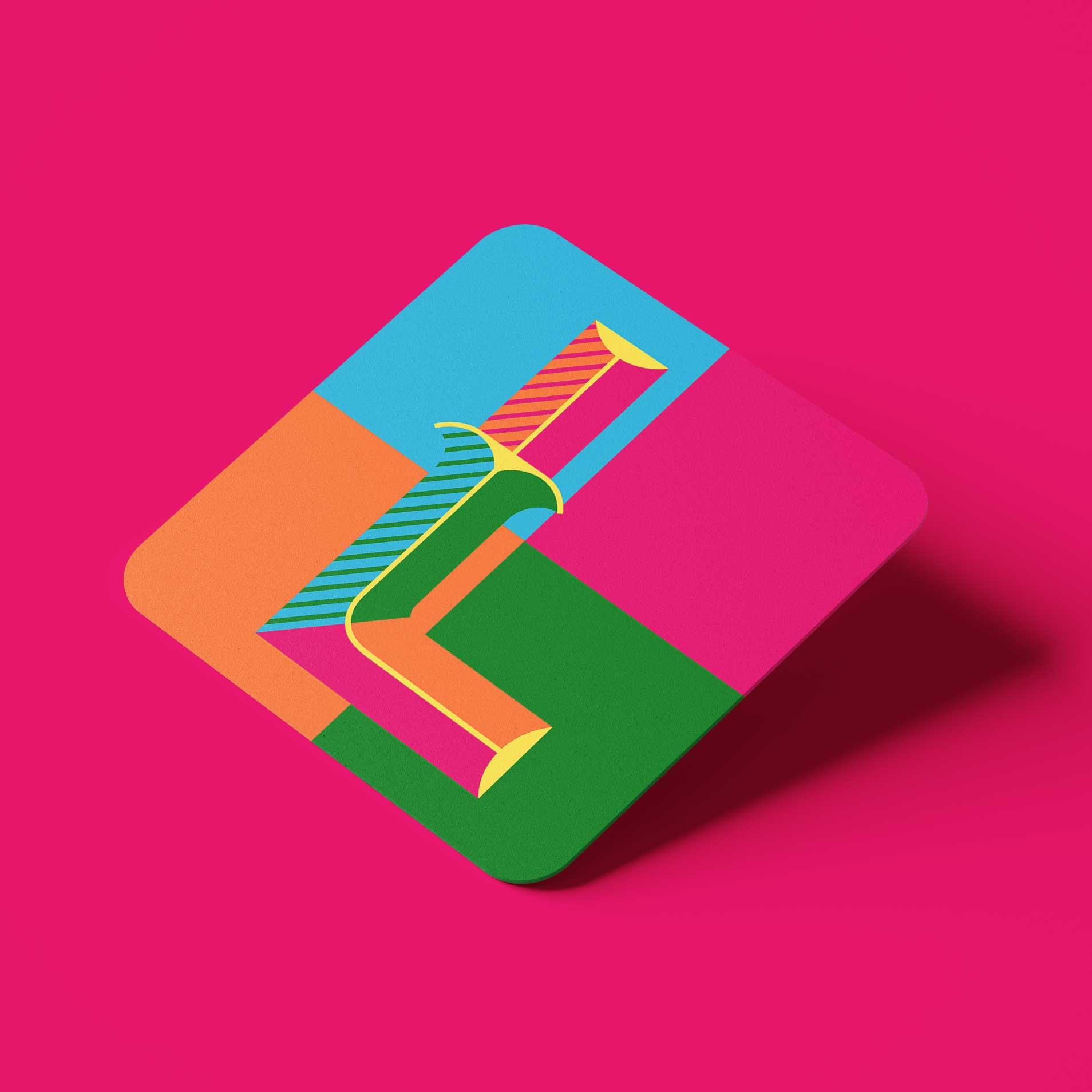 LOVE Personalized Coasters Set (Letter L)