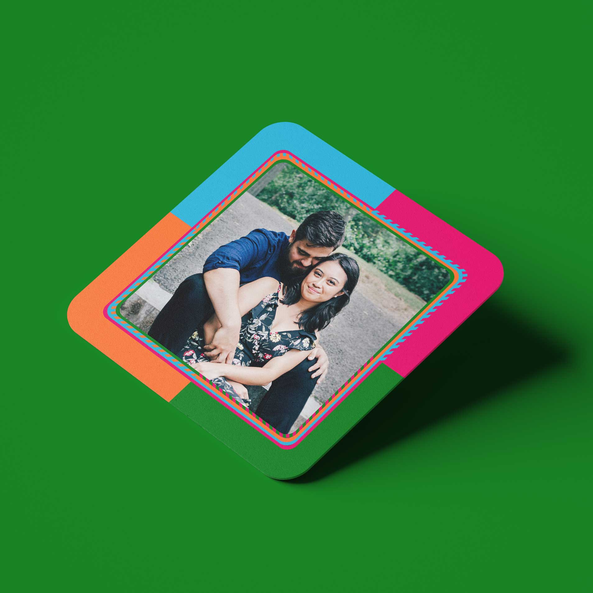 LOVE Personalized Coasters Set