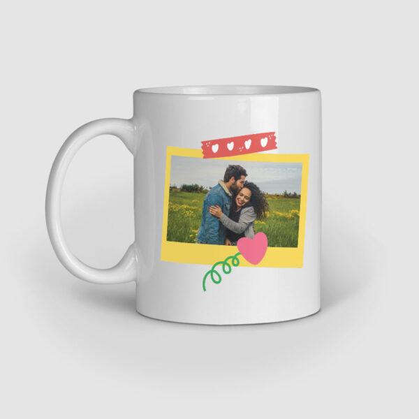 Polaroid Personalized Ceramic Mug Left Side
