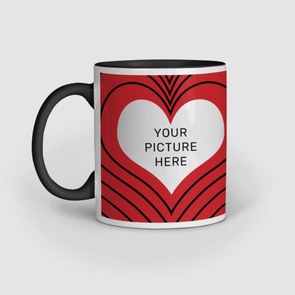 I Love You Personalized Black Inner Colored Ceramic Mug Left Side