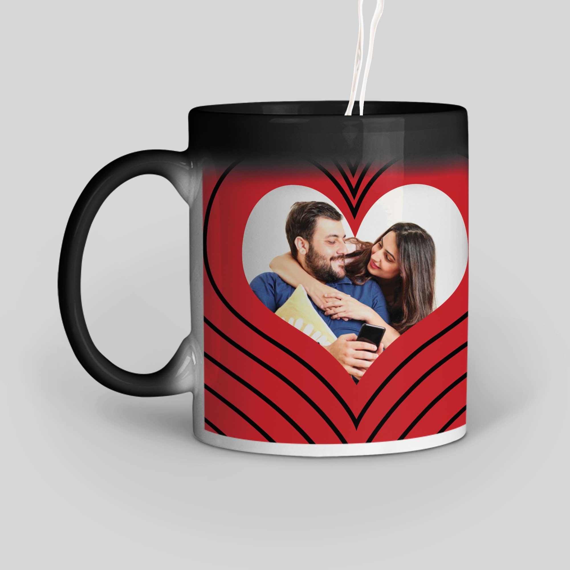 I Love You Personalized Magic Mug Left Side