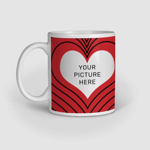 I Love You Personalized Ceramic Mug Left Side