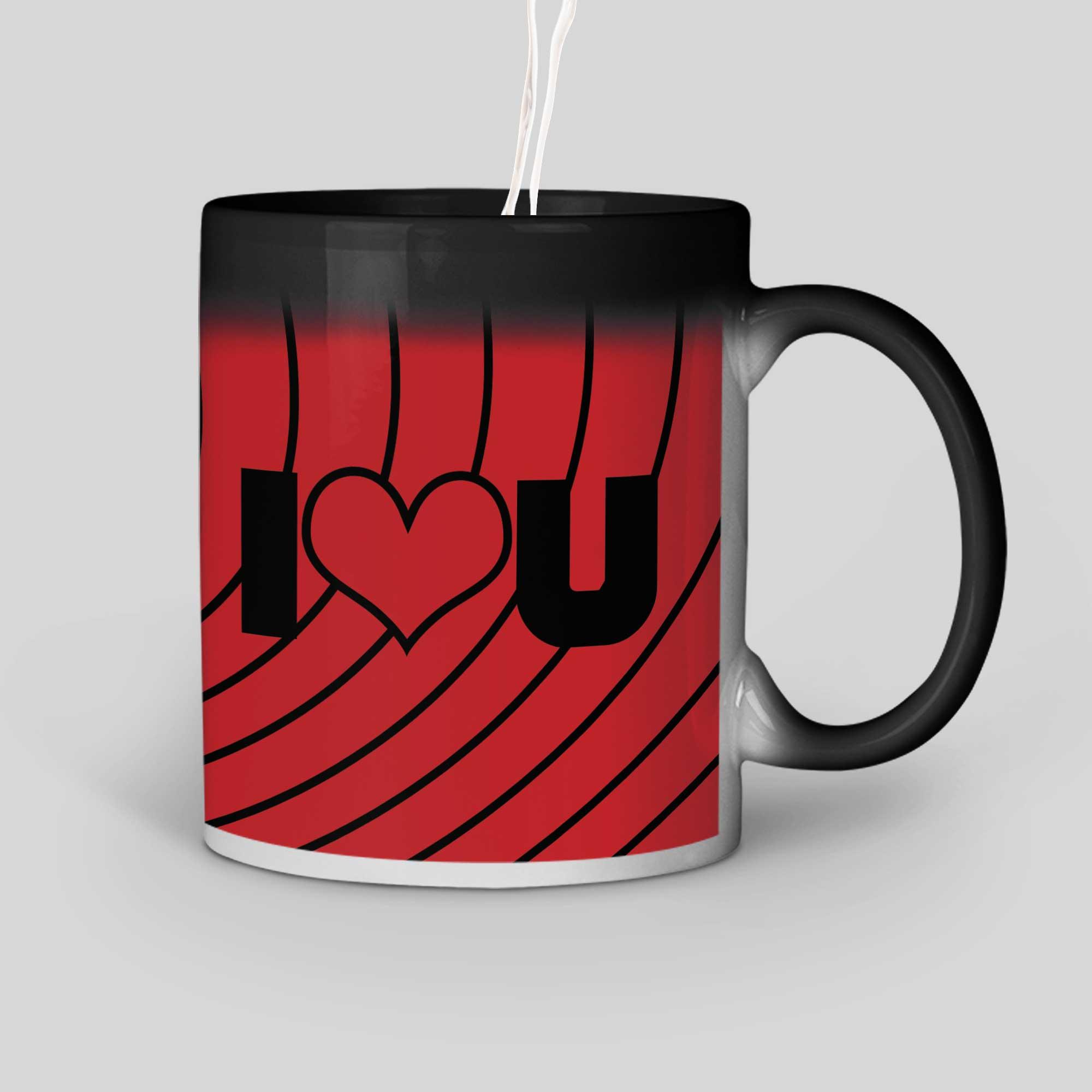 I Love You Personalized Magic Mug Right Side