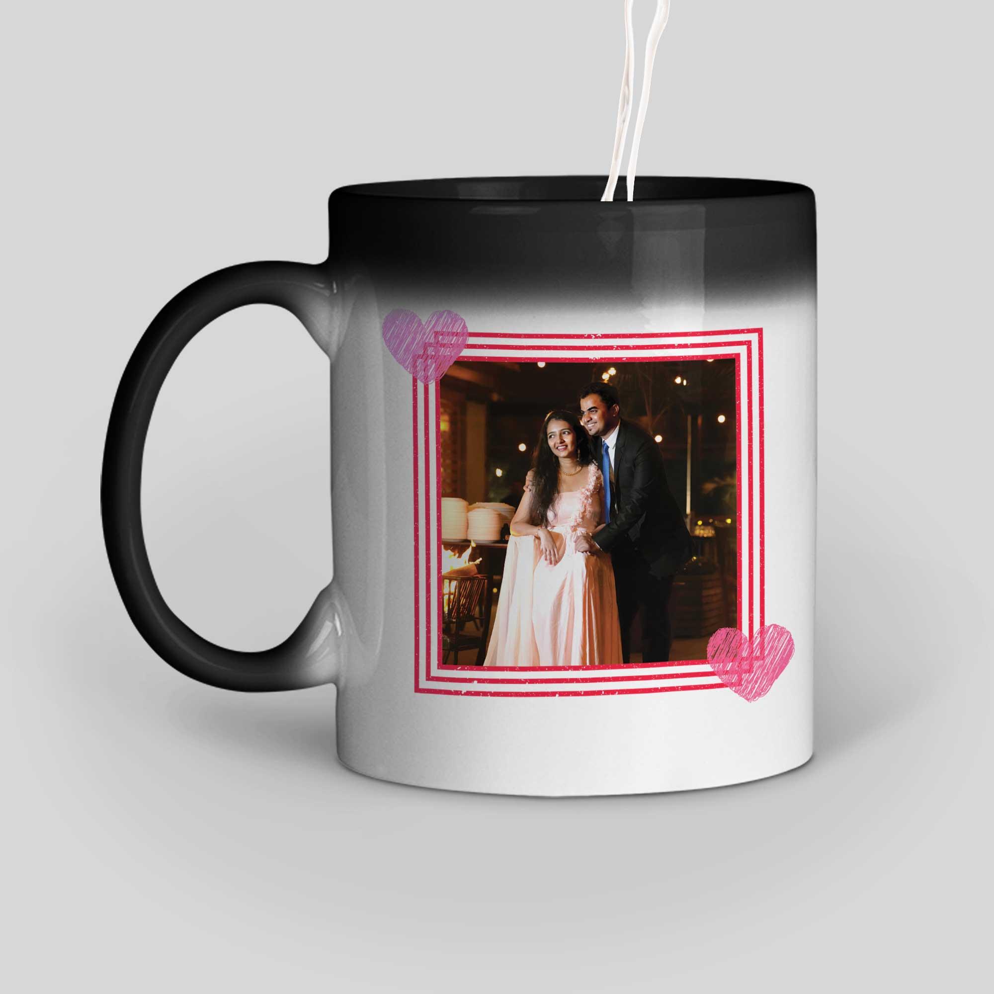 Happy Valentine's Day Personalized Magic Mug Left Side