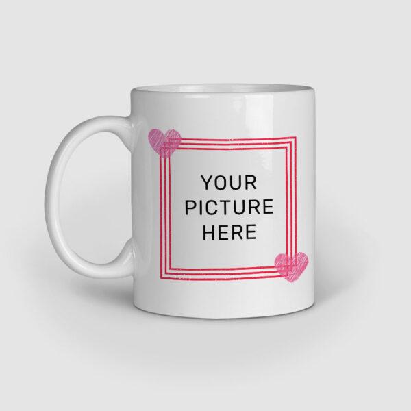Happy Valentine's Day Personalized Ceramic Mug Left Side