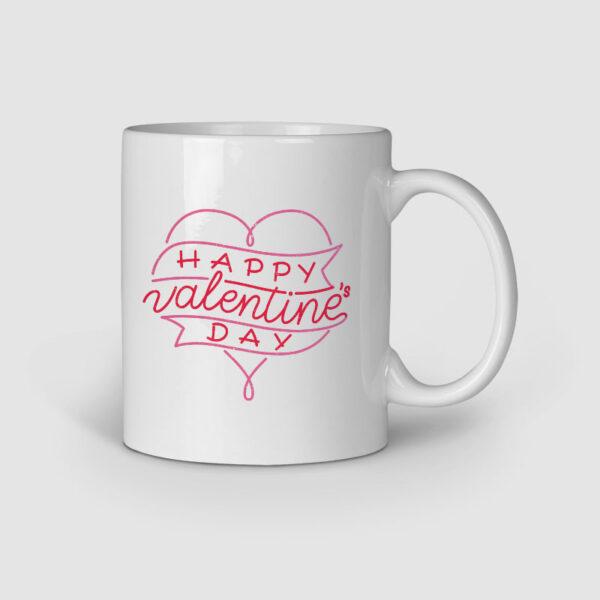 Happy Valentine's Day Personalized Ceramic Mug Right Side