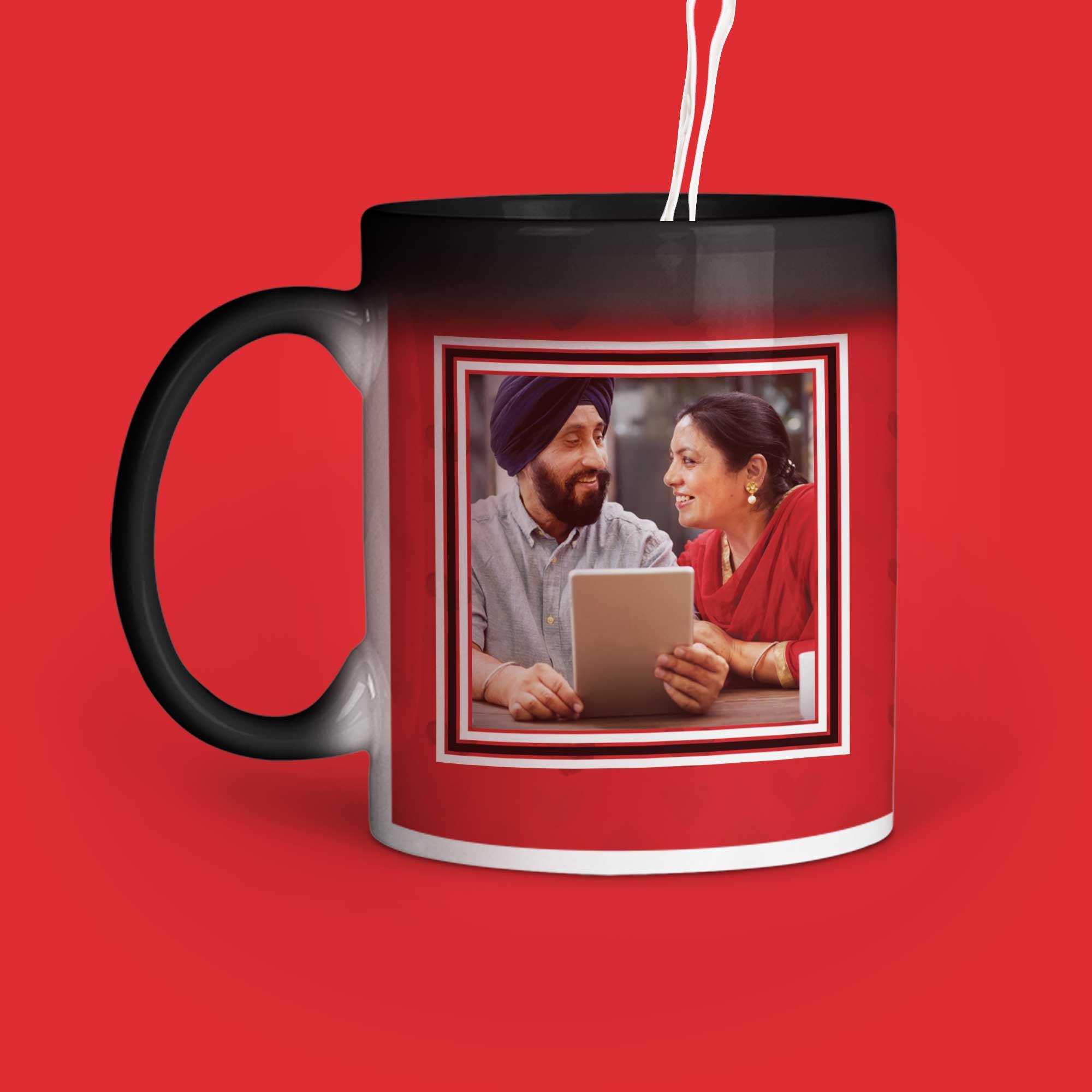 Happy Anniversary Personalized Magic Mug Left Side