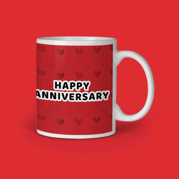 Happy Anniversary Personalized Ceramic Mug Right Side