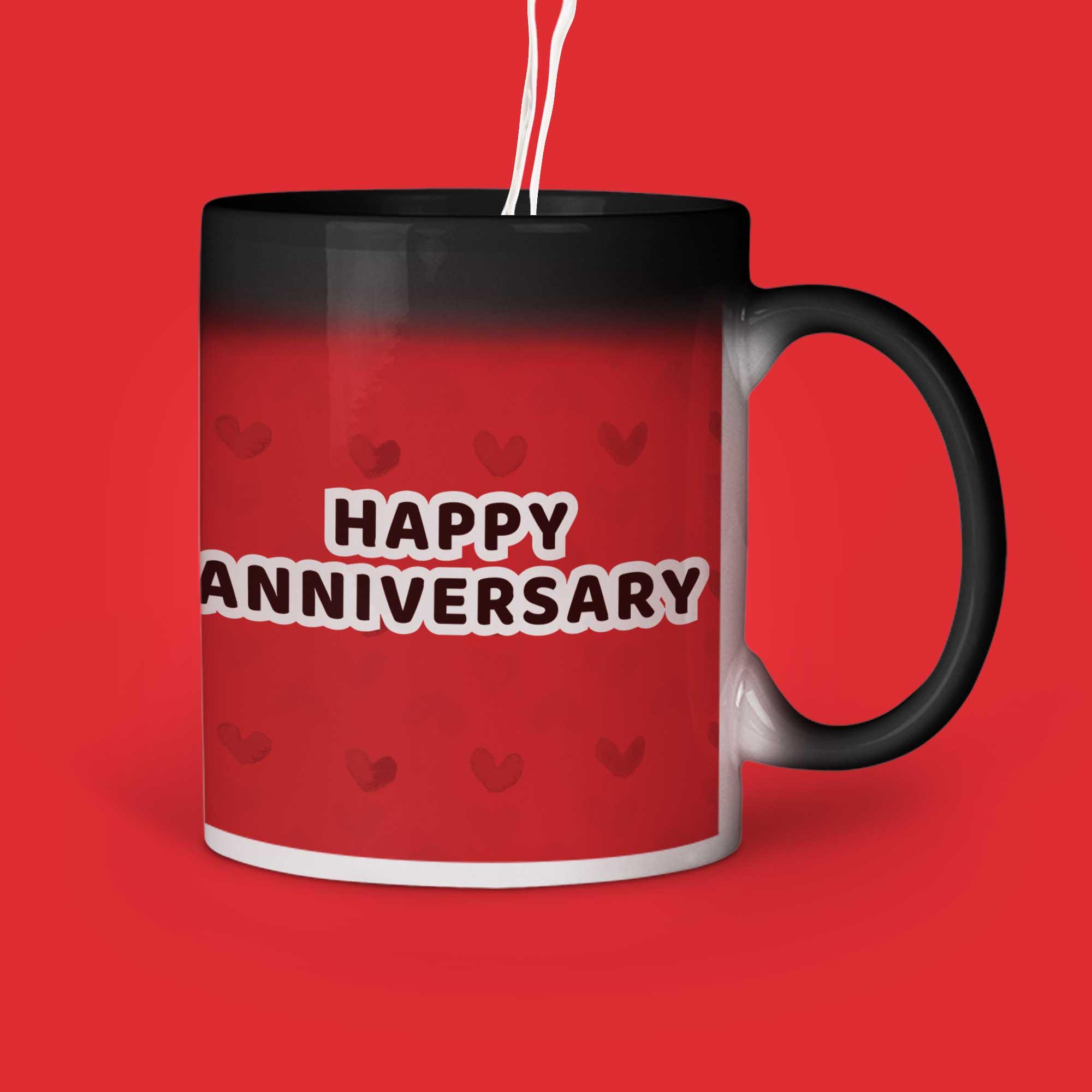 Happy Anniversary Personalized Magic Mug Right Side