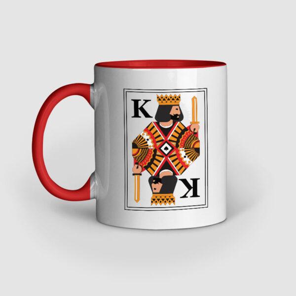 King Red Inner Colored Ceramic Mug