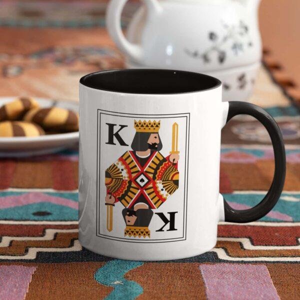 King Black Inner Colored Ceramic Mug