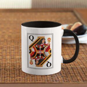 Queen Black Inner Colored Ceramic Mug