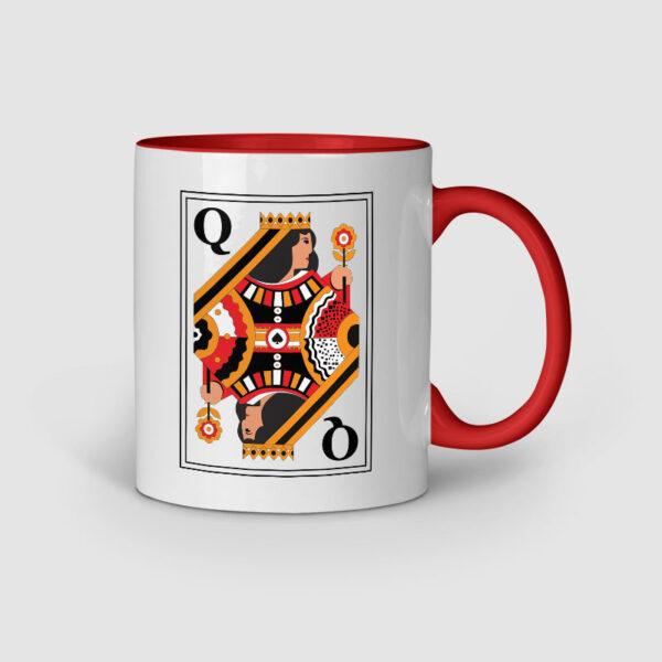 Queen Red Inner Colored Ceramic Mug