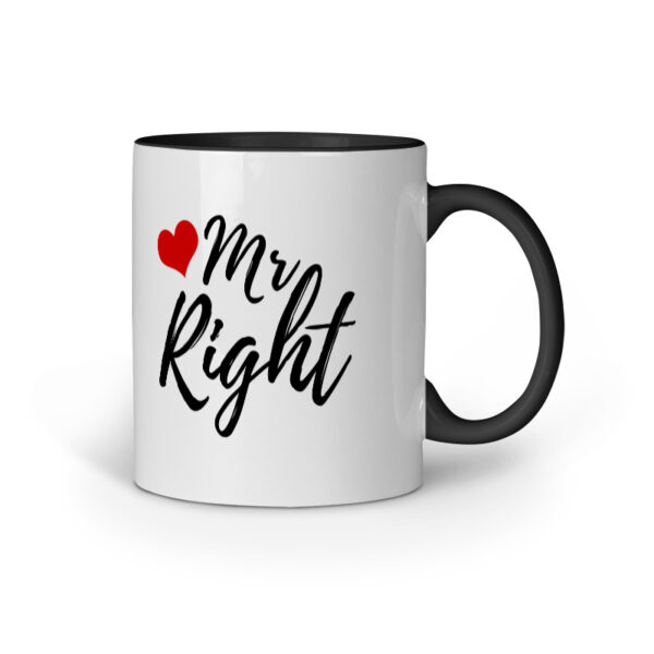 Mr. Right Black Inner Colored Ceramic Mug
