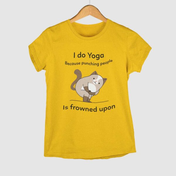 I do Yoga Golden Yellow Round Neck T-Shirt
