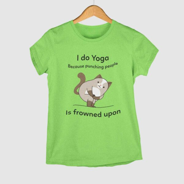 I do Yoga Liril Green Round Neck T-Shirt