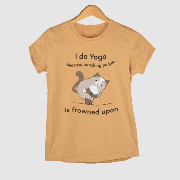 I do Yoga Mustard Yellow Round Neck T-Shirt