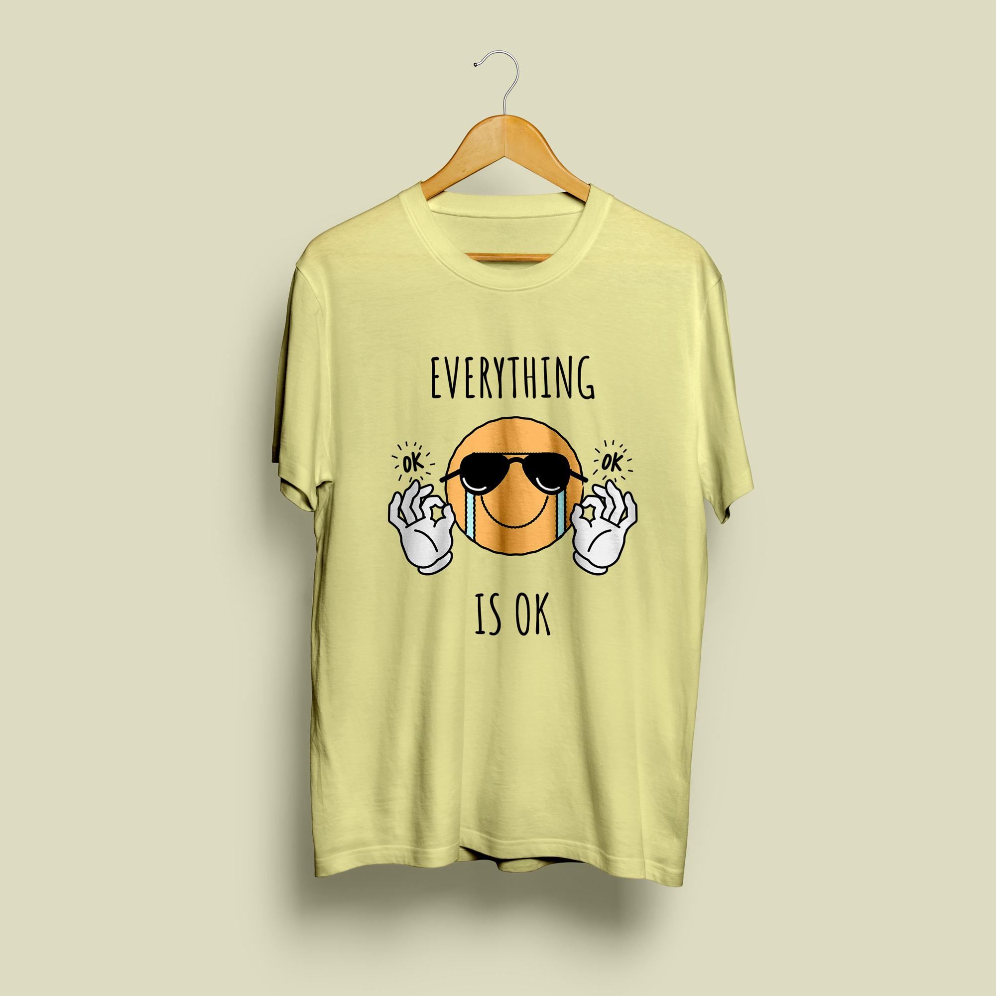 Everything Is Ok Round Neck T-Shirt