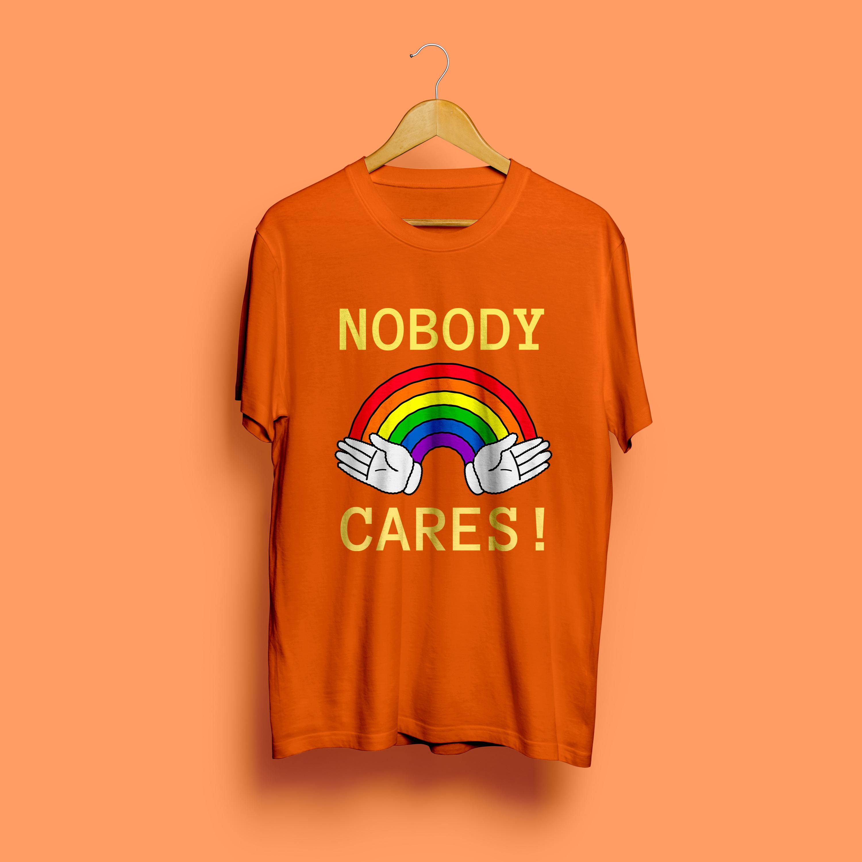 Nobody Cares Round Neck T-Shirt