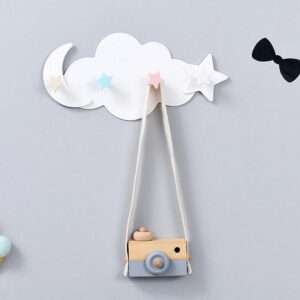 Decorative Wall Mounted Hooks Rack for Hanging Coats, Scarves, Bags, Purses, Backpacks, Towels, etc.