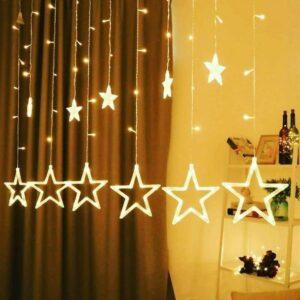 6 Big 6 Small Star LED String Light (Warm White)