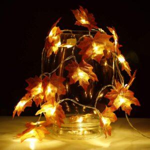 Maple Leaf LED String Lights (10 Lamps)